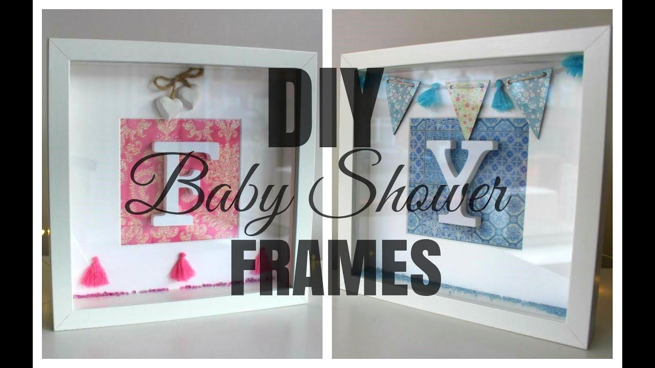 IKEA HACK | DIY Ribba Initial Frame Baby Shower Gift - YouTube
