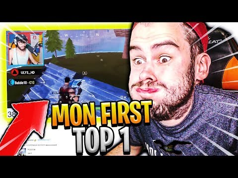 JE REAGIS A MON PREMIER TOP 1 SUR FORTNITE BATTLE ROYALE !!!