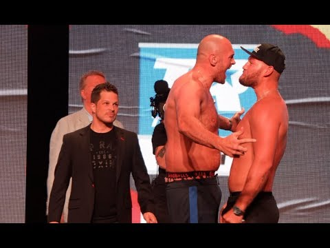 'I'LL KNOCK YOU OUT IN 1 ROUND' - TYSON FURY v TOM SCHWARZ GO AT IT   *FULL WEIGH-IN VIDEO*