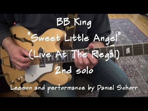 LESSON:  B.B.King - Sweet Little Angel (Live At The Regal) - 2nd Solo  100% Accurate