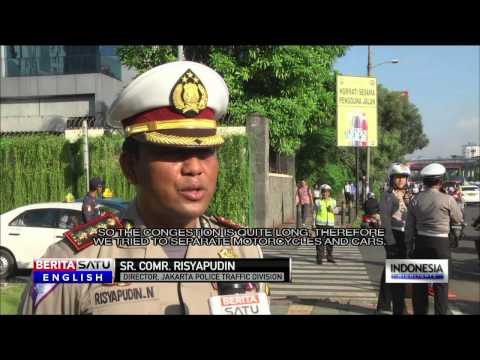 Jakarta Police Cracking Down on Traffic Scofflaws