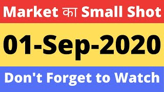 Market  Small Shot | 01-Sep-2020 | Today latest News | Stock Market for Beginners