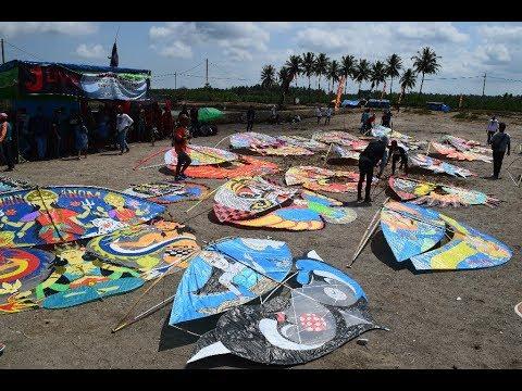 Uniknya Layangan Gapangan Kreatif Banyuwangi Drone,Tes race 2018 Tegalpare