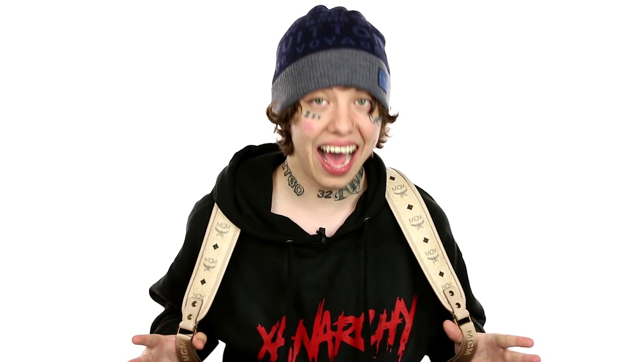 Lil Xan With Out Tattos: Lil Xan Explains His Attraction For A Beanie, Hoody, White