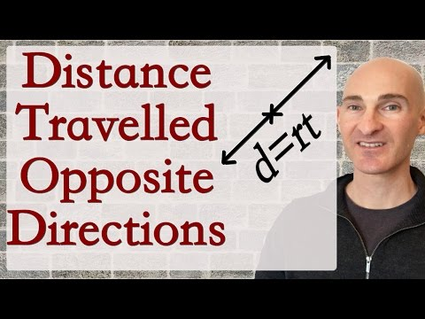Distance Traveled Opposite Directions (Systems Of Equations)