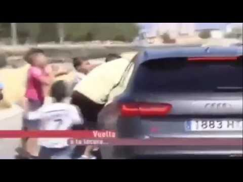 Cristiano Ronaldo Pushes Child Out From His Car Leaving Real Madrid Training 2014