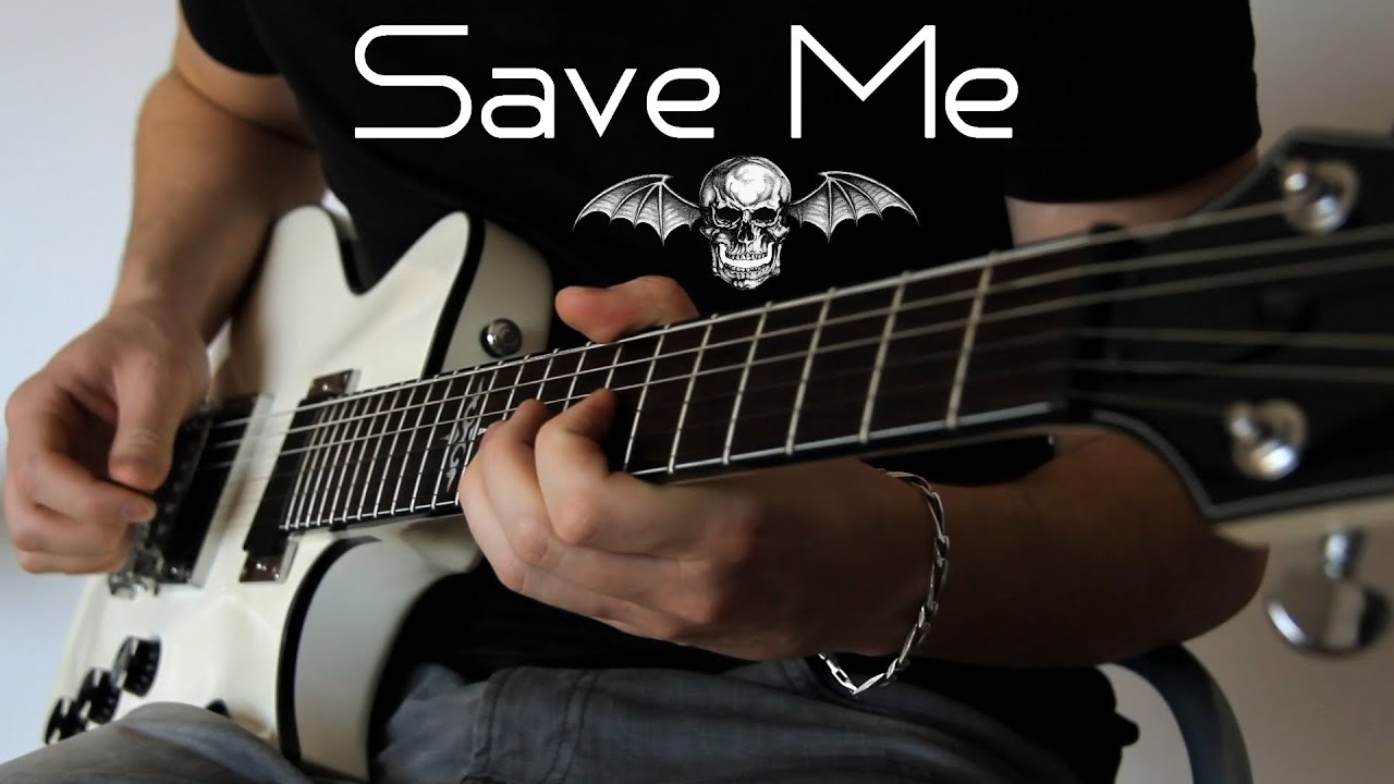 avenged sevenfold save me guitar cover with loop control