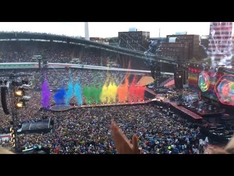 Coldplay - Opening intro at Gothenburg Ullevi - A head full of dreams