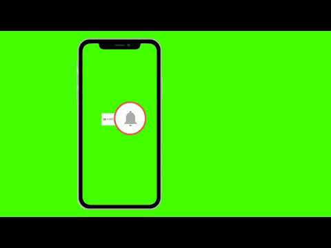 Press The Bell icon On The Youtube App Free Greenscreen Template | Copyright Free Bell icon intro