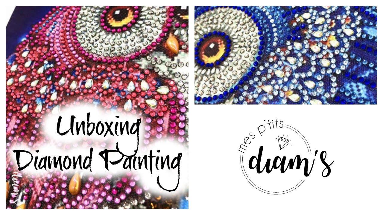 unboxing diamond painting mes p tits diam s