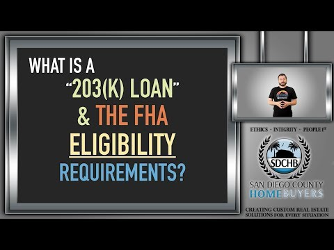 What is a 203K Loan & the FHA Eligibility Requirements?