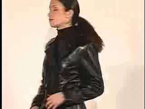 long leather coat - YouTube