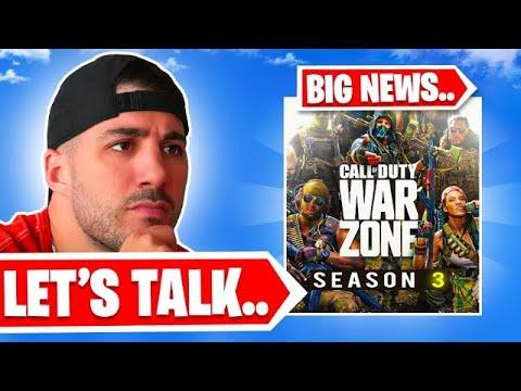 We Need To Talk.. *HUGE NEWS* (Cold War Warzone)