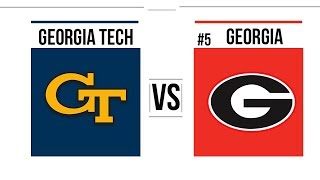 Week 13 2018 Geogia Tech vs #5 Georgia Full Game Highlights