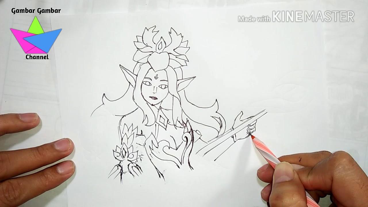 KEREN Teknik Menggambar Draw Hero Mobile Legend Odette Abilities Gampang [Gambar Gambar]