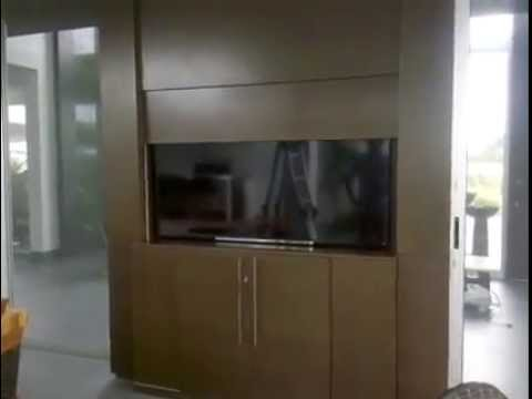 Televisor oculto en mueble youtube - Mueble televisor ikea ...