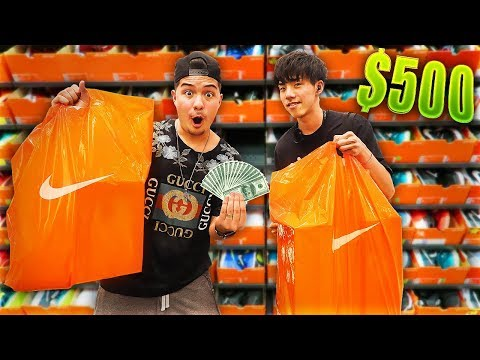 Spending $500 At Nike Outlet Tokyo Japan Challenge