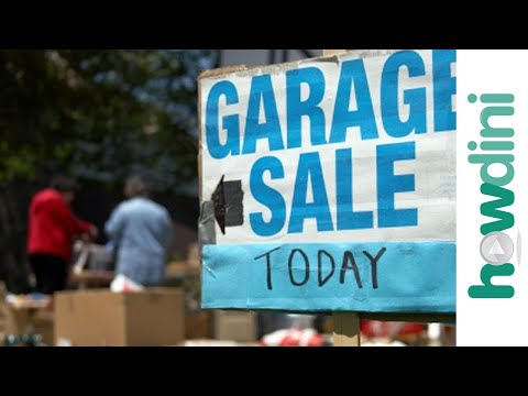 How to have a successful garage sale or yard sale