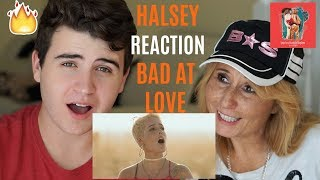 Halsey - Bad At Love (Official Video)   REACTION w/ MY MOM