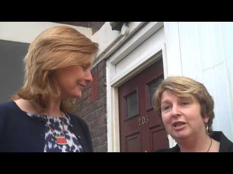 Sarah Brown with Karen Buck Campaigning for Labour in the 2010 General Election
