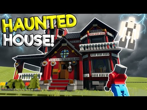 LEGO HAUNTED MANSION UNLEASHES GHOST! - Brick Rigs Roleplay Gameplay - Haunted Lego City