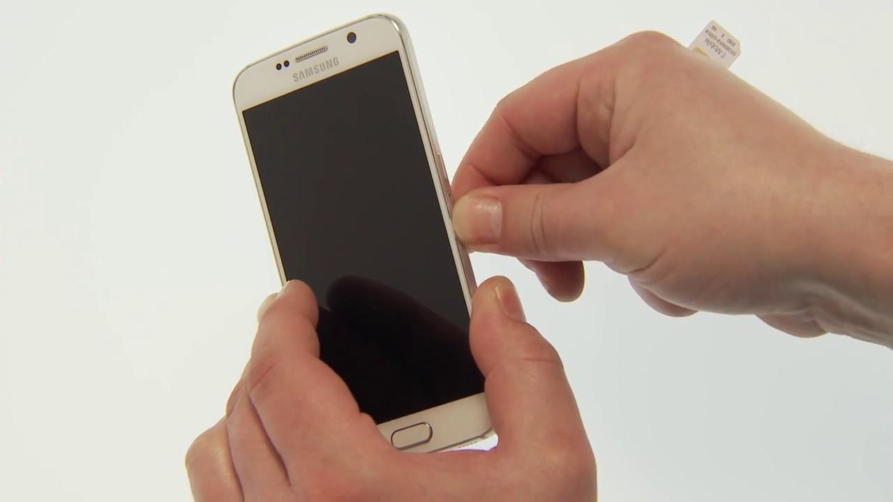 samsung galaxy s6 sim karte einlegen Samsung Galaxy S6 / S6 edge: SIM Karte einlegen und entnehmen