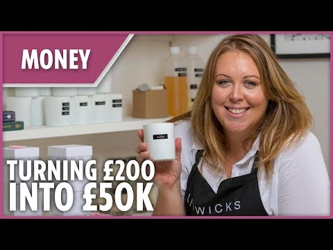 'I took £200 and started a £50k candle business at home'