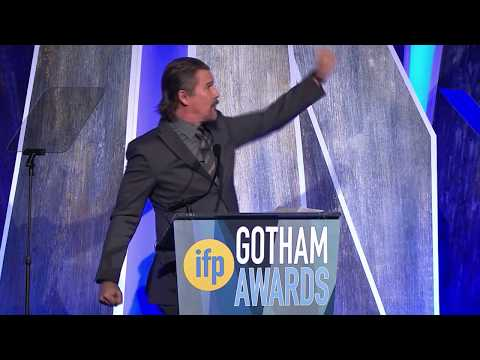 Ethan Hawke ducing 2017 IFP Gotham Tributee Jason Blum
