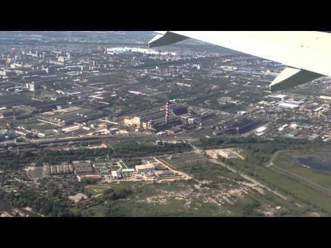 Заход и посадка в Новосибирске