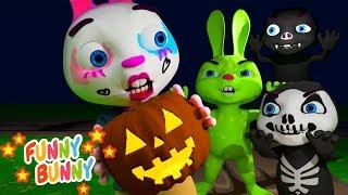 Trick or Treat Song   Nursery Rhymes   Halloween Funny Bunny