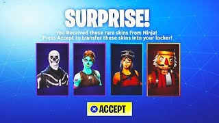 HOW TO GIFT SKINS IN FORTNITE SEASON 5 RIGHT NOW! GIFTING SKINS RELEASE DATE IN FORTNITE! NEW UPDATE