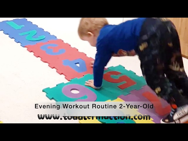 Indoor Toddler Gross Motor Activities, easy workout for kids in 4 minutes Evening Routine 2 Year Old