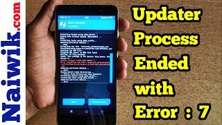 "Fix ""Updater process ended with Error : 7 "" 