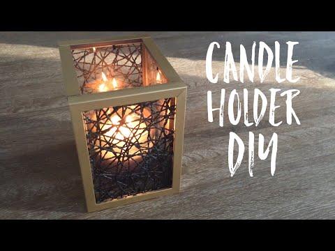 Candle Holder DIY | Dollar Tree DIY |DIY Fall Decor