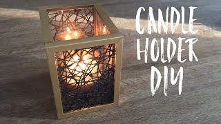 Candle Holder DIY   Dollar Tree DIY  DIY Fall Decor