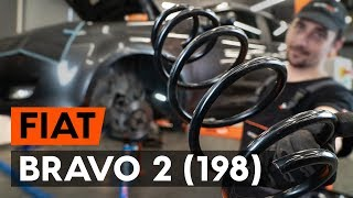 How to change front springs / front coil springs on FIAT BRAVO 2 (198) [TUTORIAL AUTODOC]