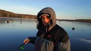 Рыбалка Пермский край  Ольховский залив, первый лед 25 11 2017