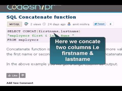 MySQL Tutorial : Concatenate Function