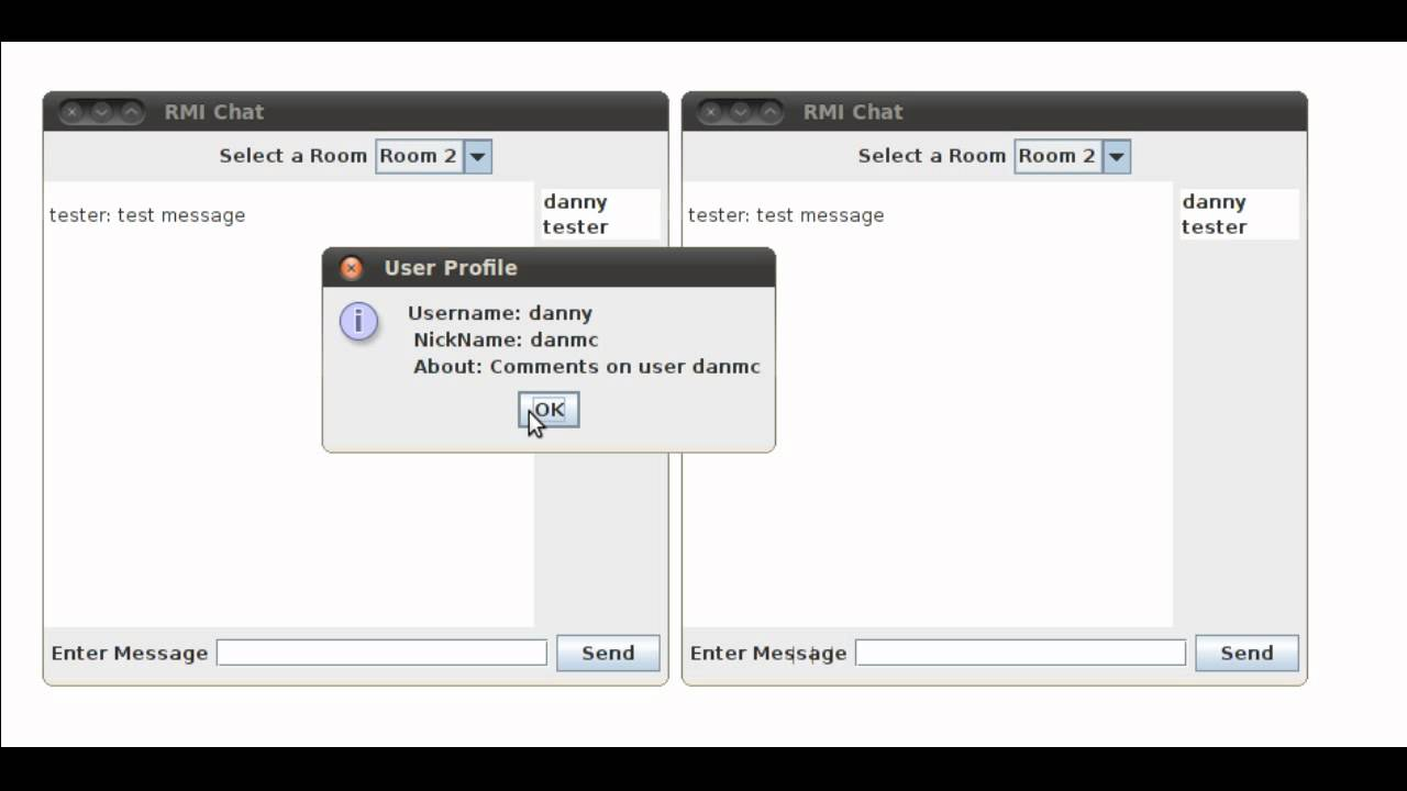 java rmi chat application