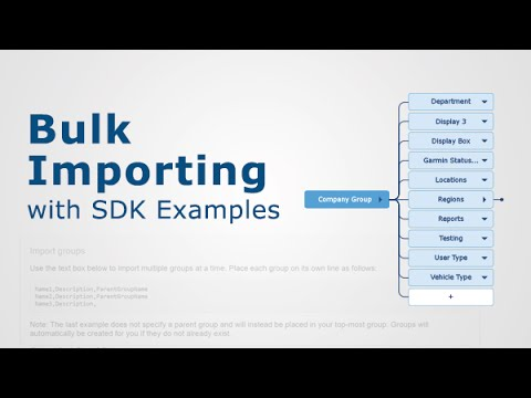 Bulk Importing with SDK Examples