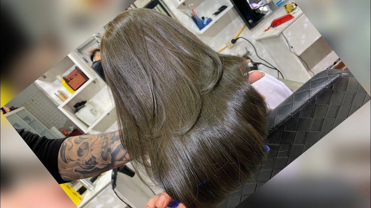 Nhuộm Màu Nâu Rêu Trong Một Nốt Nhạc | Quang Saker 0972177788 | Khái quát các thông tin về tóc nâu rêu nữ chi tiết