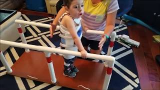 Cameron is WALKING! SMA type 1 on Spinraza