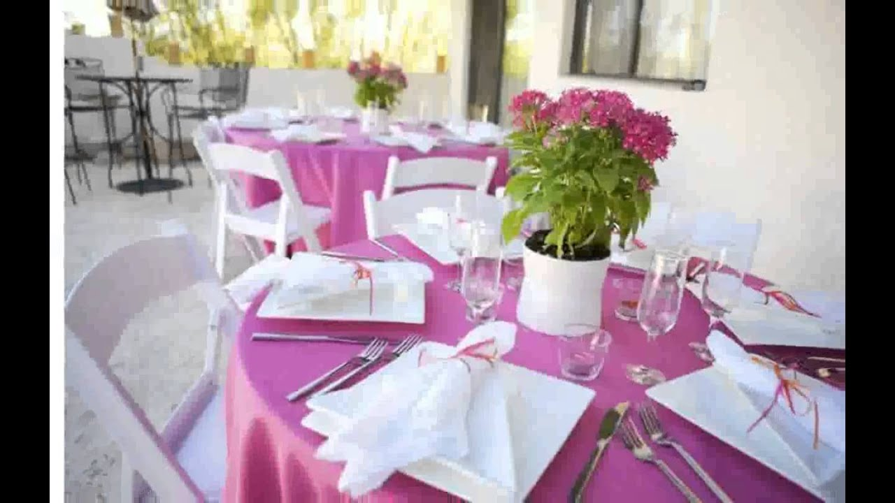 Simple Wedding Table Decorations Youtube