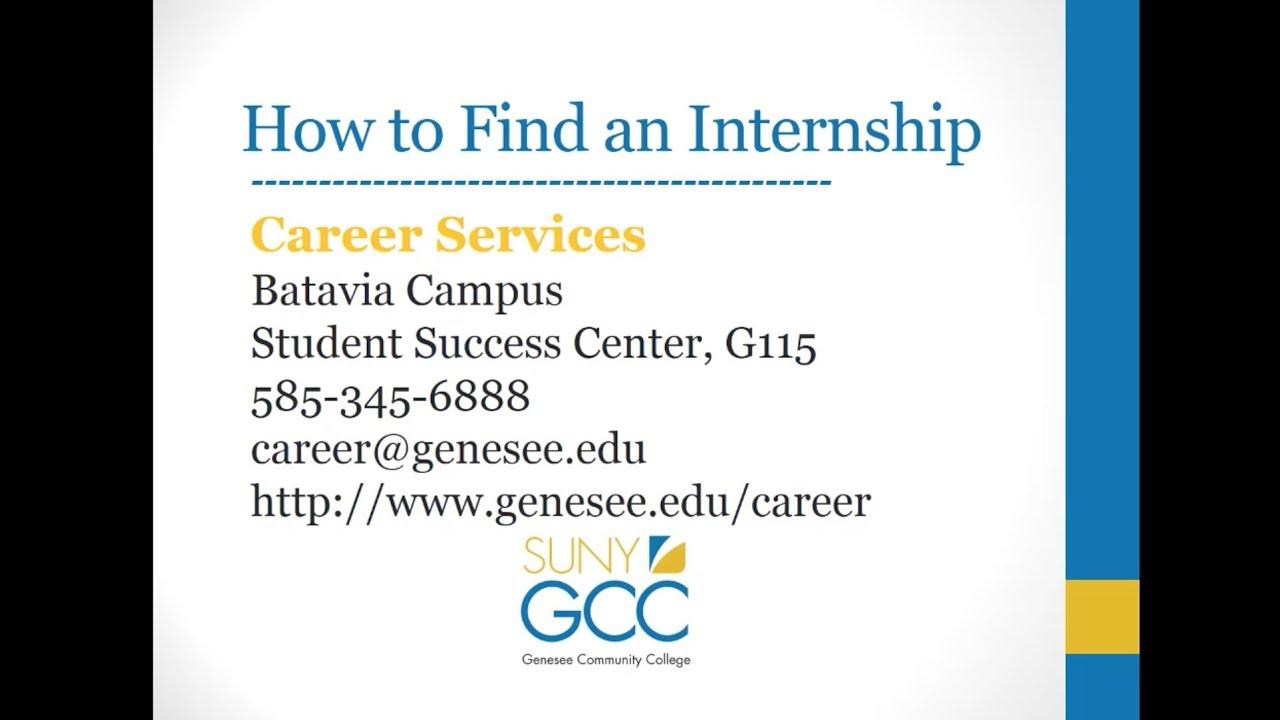 find an internship
