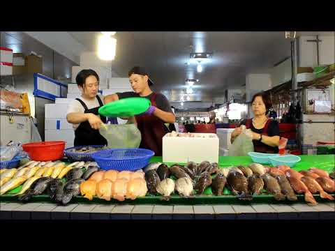 Taiwan seafood auction -Yong'an fishery harbour