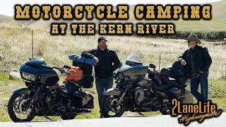 Motorcycle Camping at tнe Kern River! | 2LaneLife Moto Camping | Adventures on Harley Davidsons