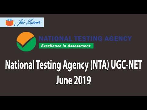 National Testing Agency (NTA) UGC-NET June 2019 Recruitment Notification