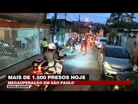 SP: Polícia faz megaoperação e prende 1500 criminosos