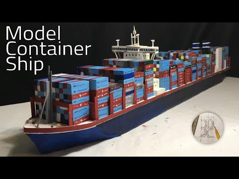 How to Make a Model Container Ship out of Cardboard