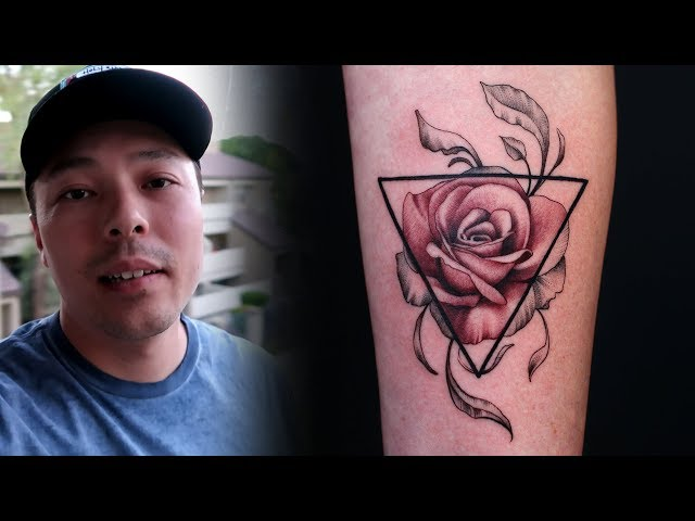 Timelapse VLOG | Fineline Fusion Rose Tattoo